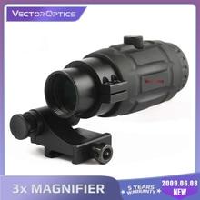 Ottica vettoriale lente d'ingrandimento tattica 3x portata rapida di alta qualità con attacco Flip To Side adatto per vista olografica