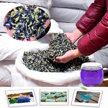 цена на 500g/1500g Clitoria Ternatea dry flower kitchen toy tea . thailand Blue Butterfly Pea tea simulation play house toy.Free shiping