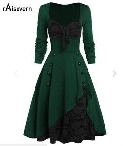 Женское винтажное платье-туника размера плюс, вечерние кружевные платья рокабилли с расклешенным штифтом, 50s 60s, Прямая поставка