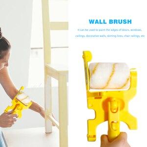Image 4 - Outil de bordure de peinture de brosse de rouleau de coupe propre pour la maison plinthe garniture de porte mur plafond peinture outils de traitement de mur