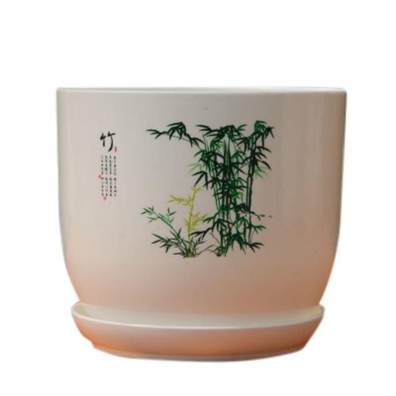 Цветочный горшок из смолы для кактуса, суккулента, горшок для растений в китайском стиле, горшок для бонсая, цветочный горшок с дренажным от...