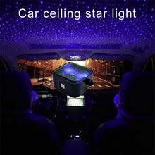 CARCTR 업 그레 이드 별이 빛나는 하늘 자동차 주변 조명 USB RGB 원격 DJ 디스코 파티 분위기 자동차 인테리어 크리스마스 분위기 조명