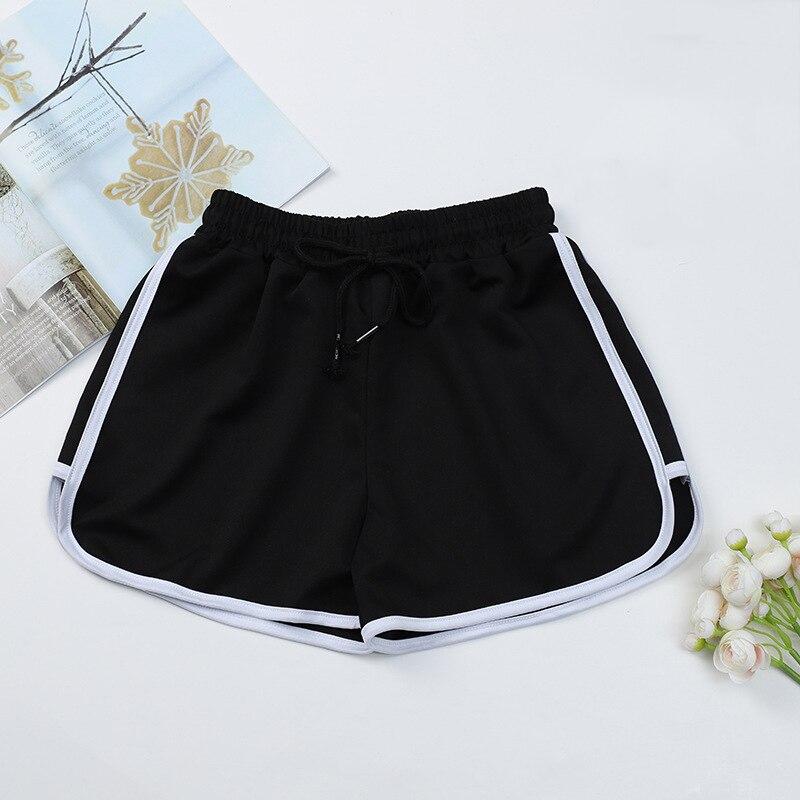 Fashion Summer Casual Shorts Woman Stretch Elastic Waist Booty Shorts Female Black White Loose Beach Sexy Shorts S-XXL 4