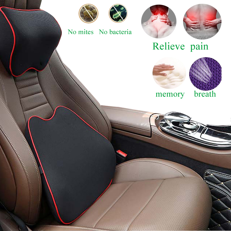 Car Seat Headrest Pillow Auto Memory Foam Car Neck Pillow Seat Head Support Lumbar Support For Office Chair Cushion For Car Auto 1
