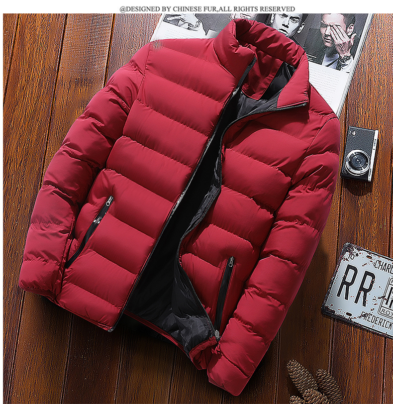 2019 New Men's Winter Jacket Men's Casual Fashion Printing Jacket High Quality Candy Stripe Coat Men's Jacket, Large Size M-4xl