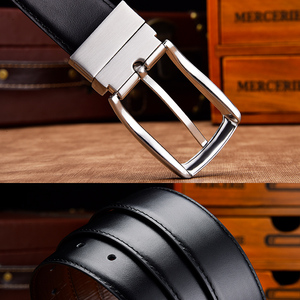 Двусторонние ремни из натуральной кожи для мужчин, официальный ремень высокого качества черного, коричневого, темно-синего цвета