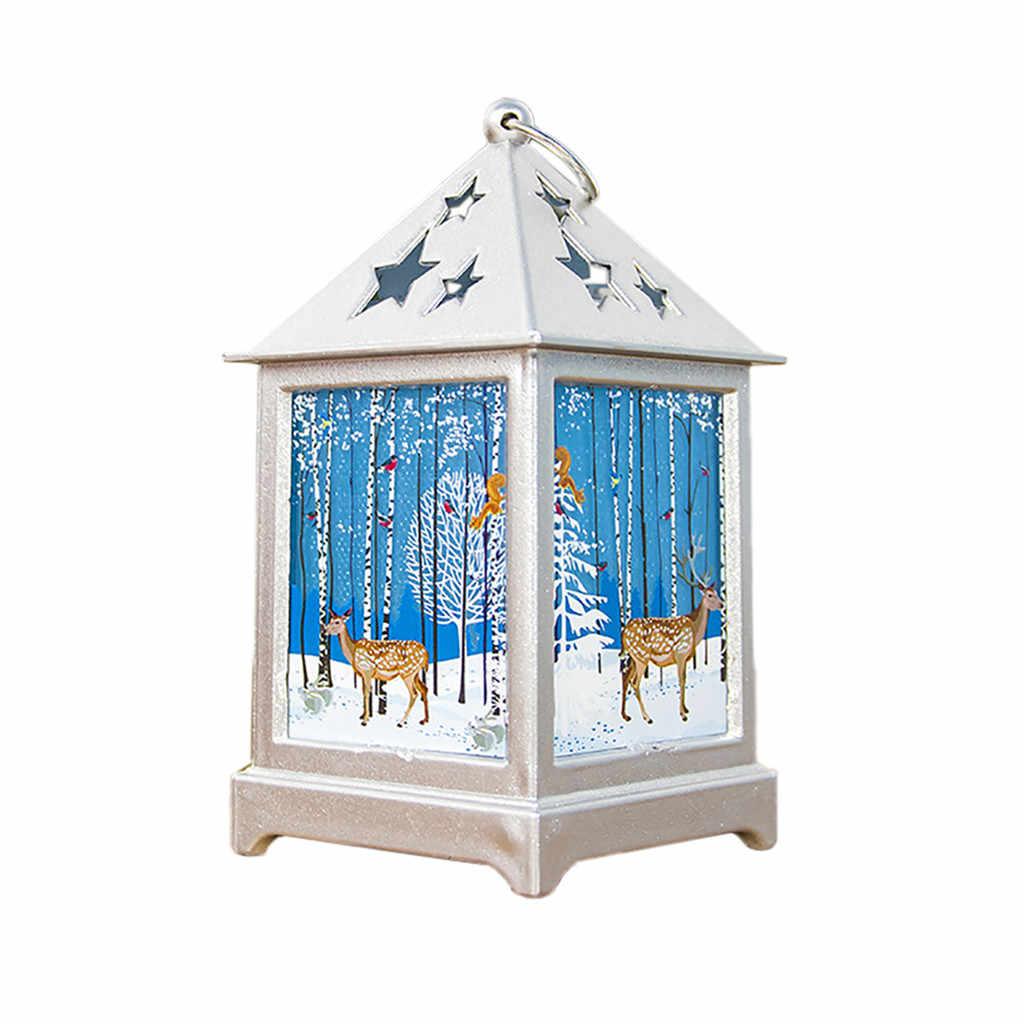 คริสต์มาสขนาดเล็กไม้บ้านไฟ Minil แขวนตกแต่งเครื่องประดับตกแต่งบ้านน่ารัก Mini แขวนโคมไฟสำหรับเด็กของขวัญ