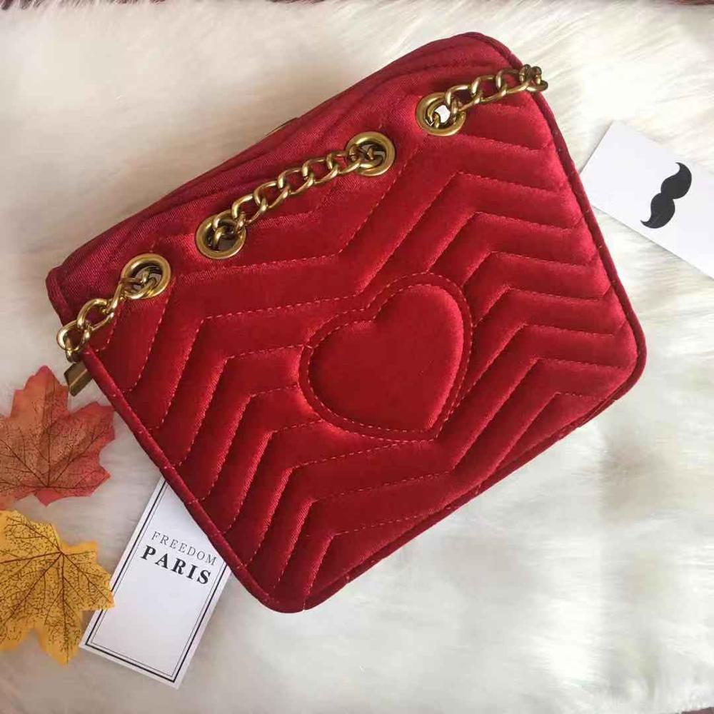 Luxury Handbags Women Bags DesignerHigh Quality Bags For Women 2019  New Velvet G Small Bag Ins Super - Fire Network Red