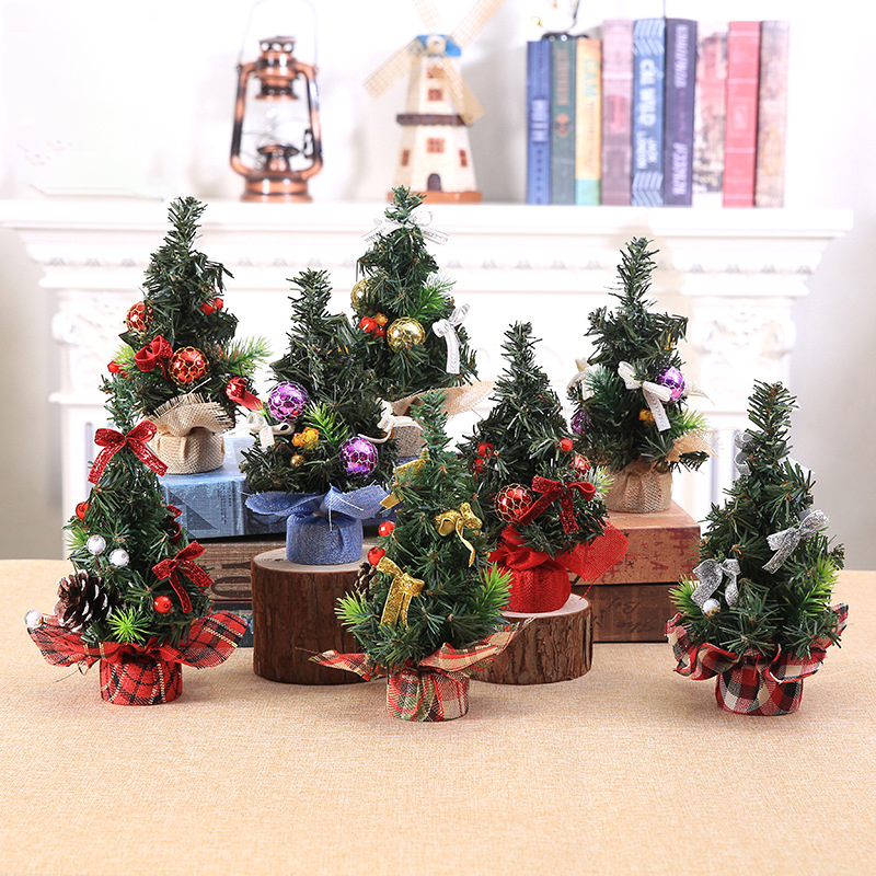 Christmas Mini Tree Figurine Creative Home Decoration Accessories Christmas Decorations For Home Christmas Gift