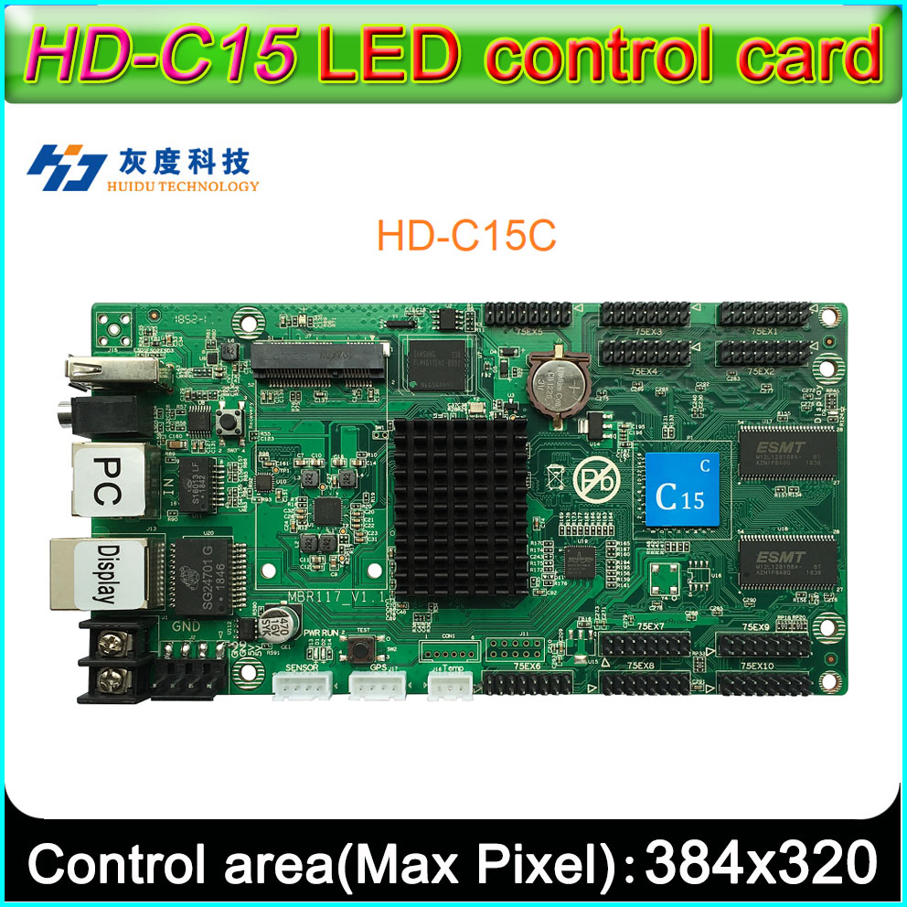 2019 New HD-C15-c Full Color LED Display Control Card,Async Control Support 32 Scan LED Display Module,Onboard 10 HUB75E