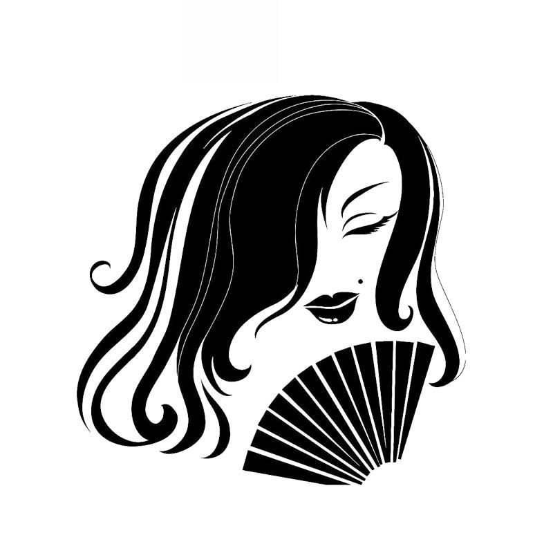 Автомобильная наклейка, персональная Сексуальная элегантная девушка, современный дизайн, автомобильная наклейка, модное украшение автомо...