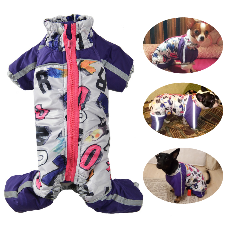 Winter Clothes For Small Dogs Warm Fleece Pet Coat Jackets Reflective Puppy Jumpsuit Chihuahua French Bulldog Clothing Overalls