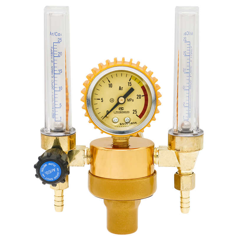 Argon Double Flow Meter Cylinder TIG Welding Pressure Regulator Reducer