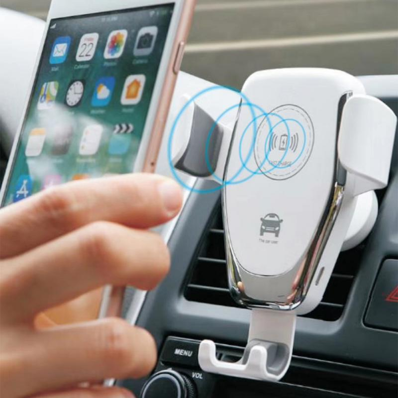 10W Car Mount Wireless Charger For IPhone 11 Pro XS Max XR X 8 Quick Qi Fast Charging Car Phone Holder For Samsung S10 S9