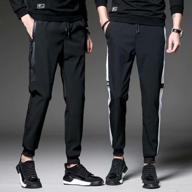 INS Super Fire Pants Male STUDENT'S Loose-Fit Korean-style Ulzzang Capri Pants Versatile Casual Harajuku-Style Skinny Pants