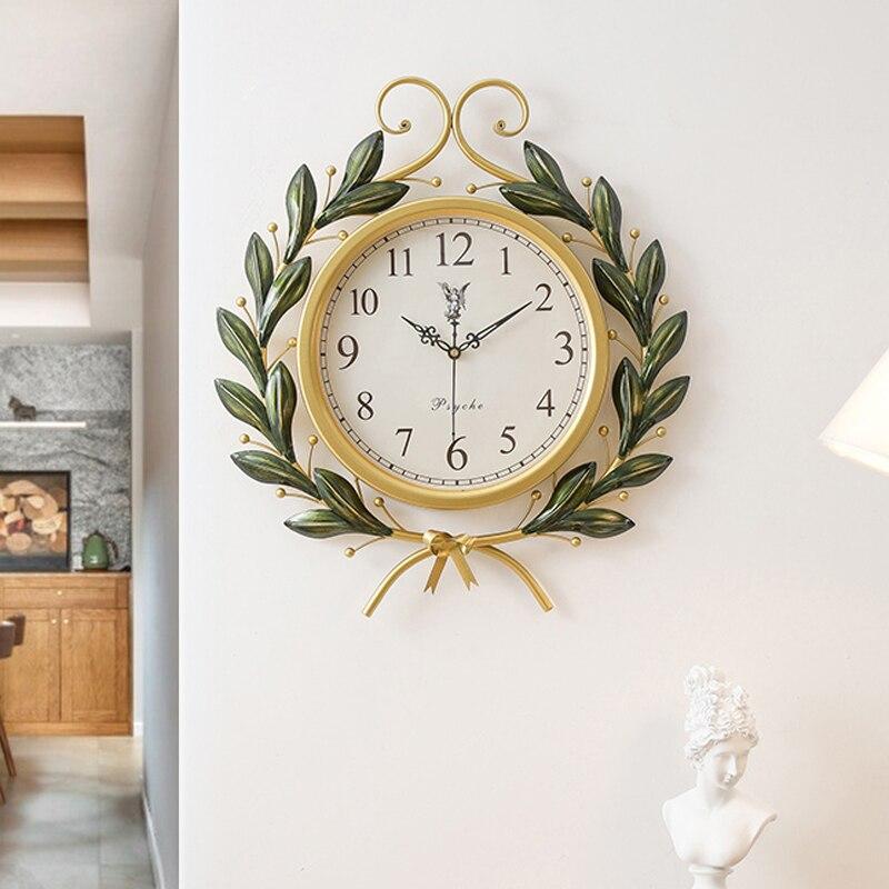 Произведения искусства Американский Ретро креативные модные часы настенные часы Современные Простые Семейные гостиная индивидуальные кварцевые часы