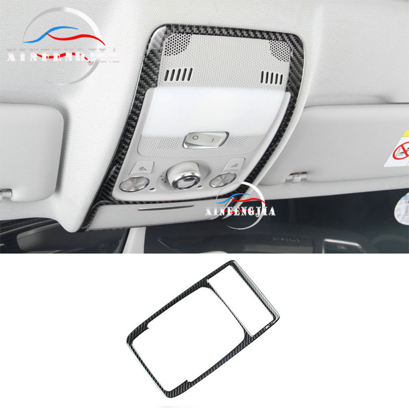 For Audi Q5 A5 A4 B8 09-16 Carbon Fiber Inner Front Reading Light Lamp Frame Trim Cover image