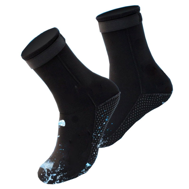 1 Pair Neoprene Diving Socks Swimming Seaside Scuba Socks Wetsuit Prevent Scratches Warming Snorkeling Socks Beach Boots