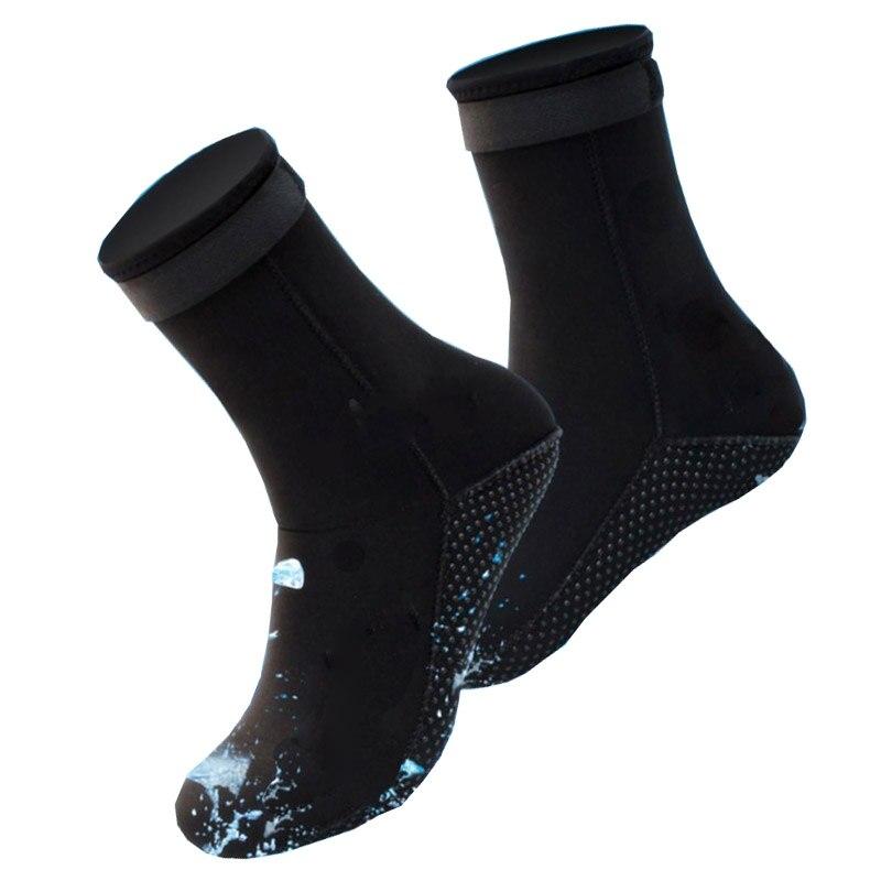 1 Pair Neoprene Diving Socks Swimming Seaside Scuba Socks Wetsuit Prevent Scratches Warming Snorkeling Socks Beach Boots