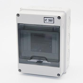 цена на 5 Way Plastic Electrical Distribution Box Waterproof MCB Box Panel Mounted Junction Box  HT Series