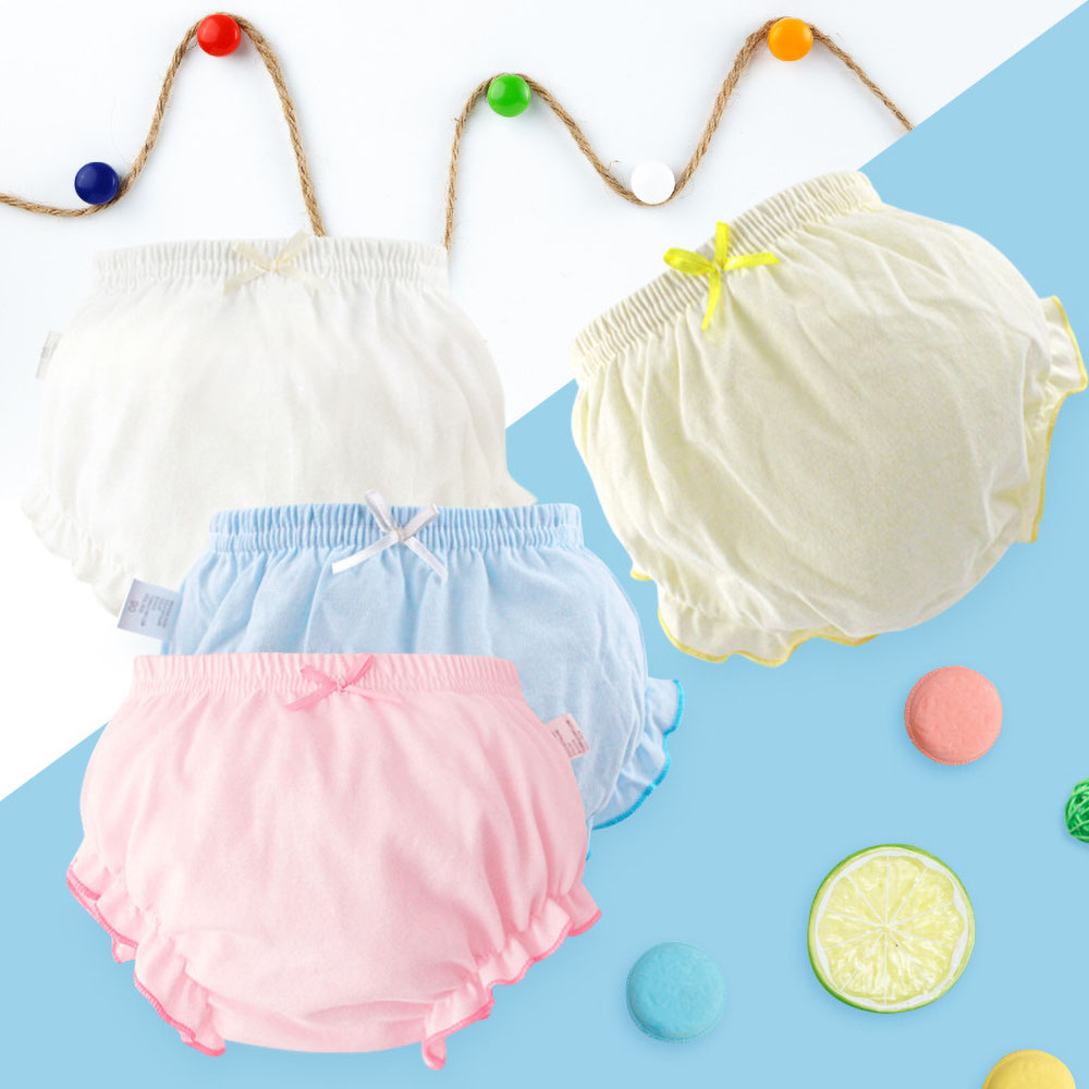 Toddler Baby Underwear Kids 100% Cotton Underpants Girls Panties Newborn Boys Summer Solid Color Shorts Infant Baby Briefs 0-3Y