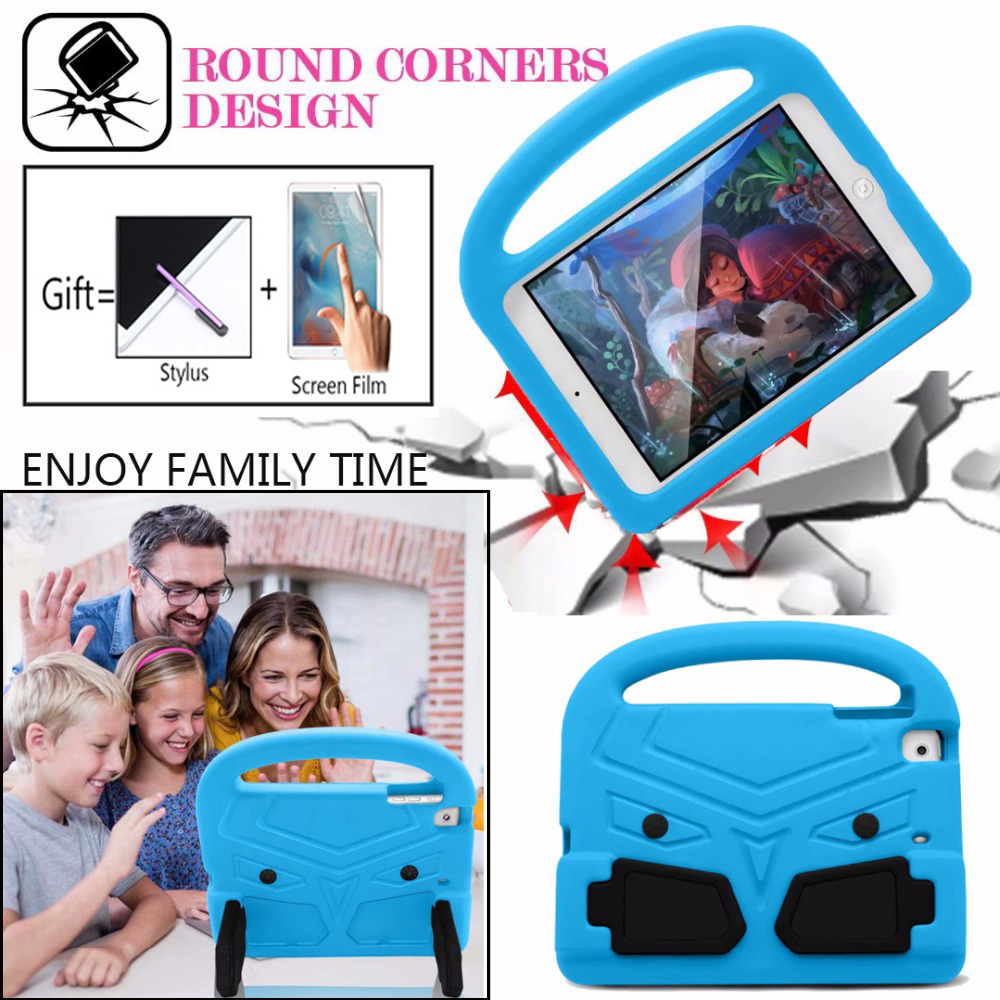 For <font><b>iPad</b></font> Mini Case Lovely robot Kids Friendly Non-toxic EVA Foam Shockproof Stand Cover Cases for <font><b>iPad</b></font> Mini 1 2 3 4 5 <font><b>Coque</b></font> Capa image