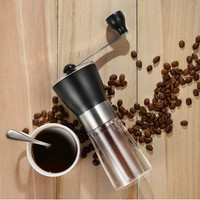 커피 그라인더 빨 수있는 세라믹 코어 수제 미니 커피 콩 버 그라인더 밀 주방 도구 휴대용 수동 커피 그라인더