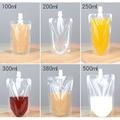 100 пакет, воротник-стойка Пластик упаковочный пакет для напитков для питья через соломинку для напитков жидкость молока сока Кофе