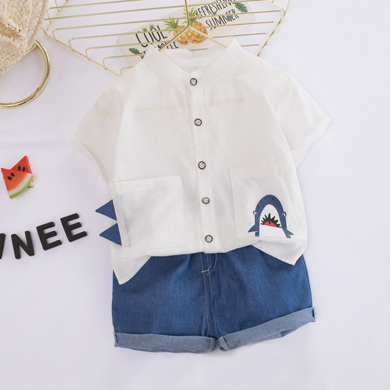 Bear Leader Boys Clothing Sets 2020 New Summer Toddler Baby Cartoon Suits Casual Cartoon T-shirt and Pants Clothes Kids Clothing