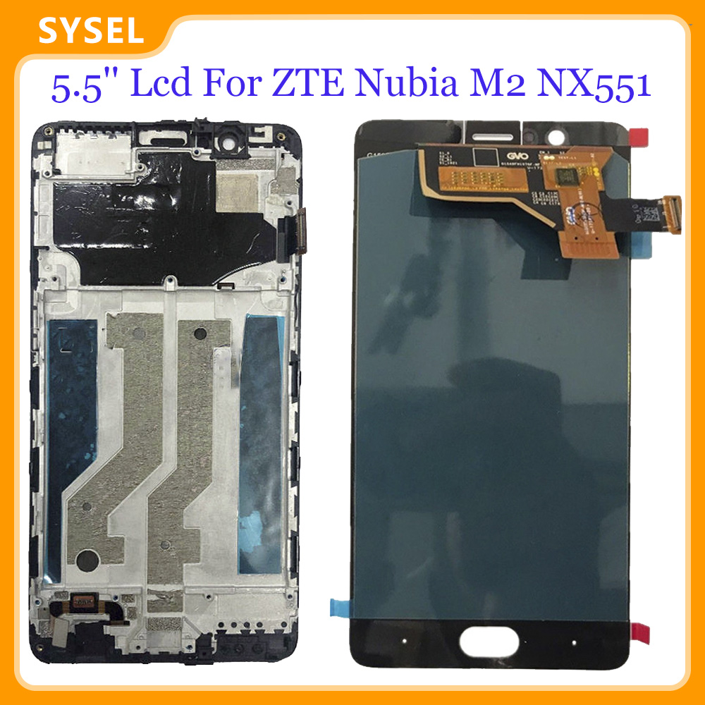 5.5'' Lcd For ZTE Nubia M2 NX551J LCD Display Digitizer Screen Touch Panel Glass Sensor Assembly + Tools(China)