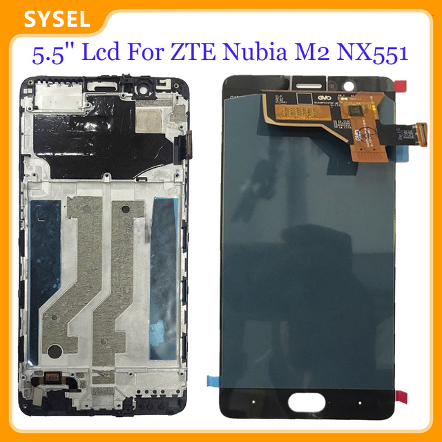 5.5 Lcd For ZTE Nubia M2 NX551J LCD Display Digitizer Screen Touch Panel Glass Sensor Assembly + Tools