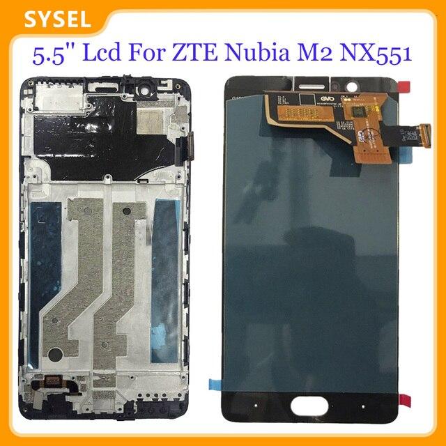 5.5 Lcd ل ZTE النوبة M2 NX551J شاشة الكريستال السائل شاشة رقمية لوحة اللمس الزجاج الاستشعار الجمعية أدوات
