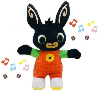 Bing Rabbit Plush Kids Music Toy Educational Electronic Toys Stuffed Panda Coco Hoppity Animation Peluche Action Children Gifts