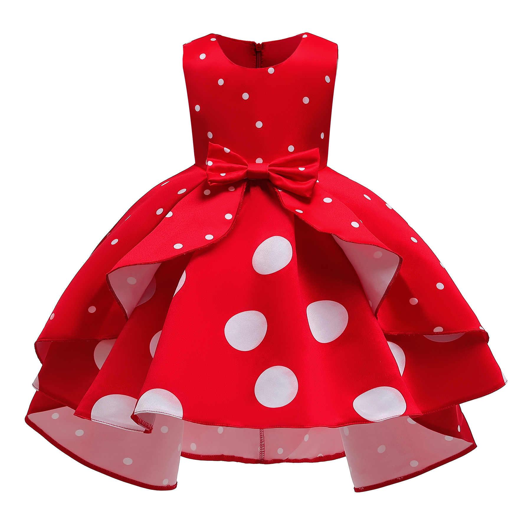 Niñas Vestido Navidad Polka Vestido Princesa Elegante Vestidos Infantiles Para Niñas Carnaval Fiesta Vestido Niños Ropa 2 34 6 8 10 Años