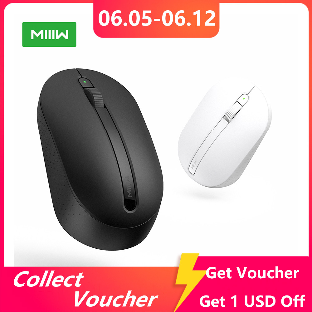 Original MIIIW 2.4GHz Wireless Mouse 1000DPI Optical Mouse for Home Office Laptop Non-slip texture Fully symmetric design