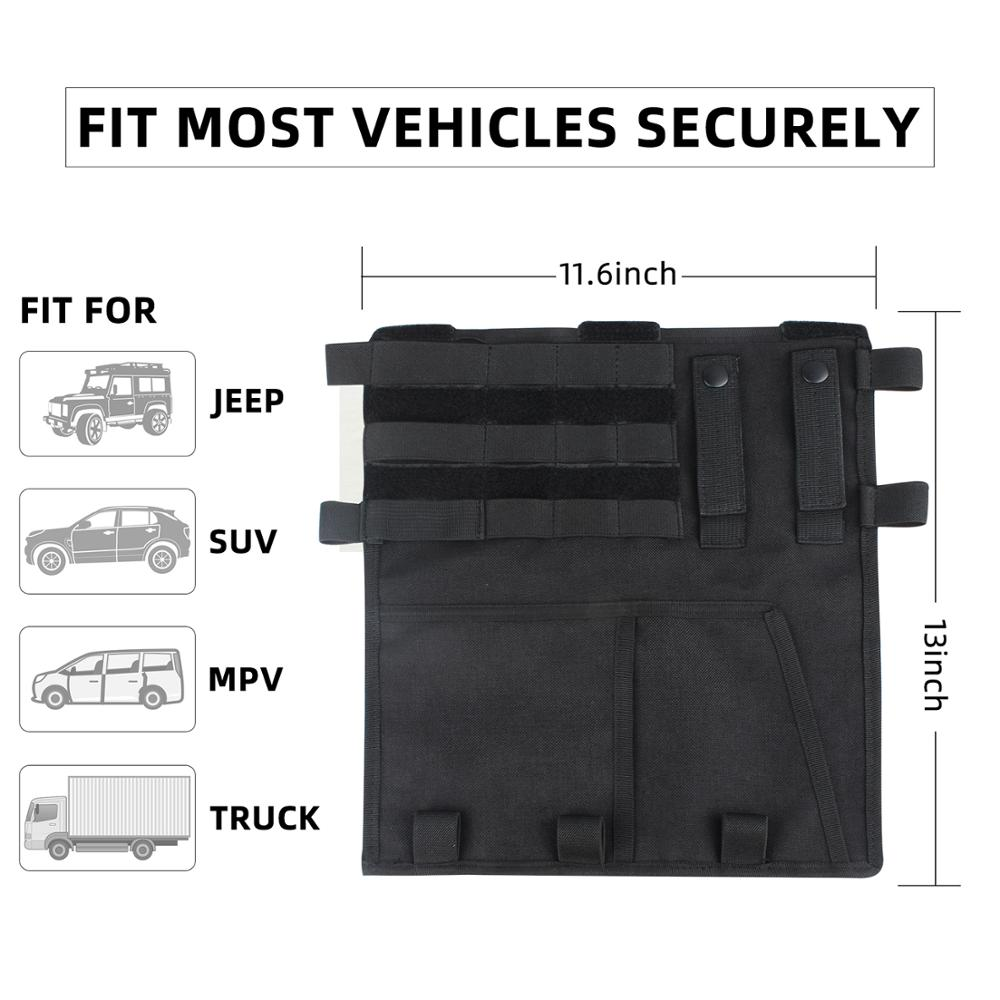 Image 4 - Kosibate Tactical Molle Vehicle Visor Panel Tool Pouch CD Storage Bag Truck Car Sun Visor Organizer Auto Gear Accessories HolderSport Bags Covers   -