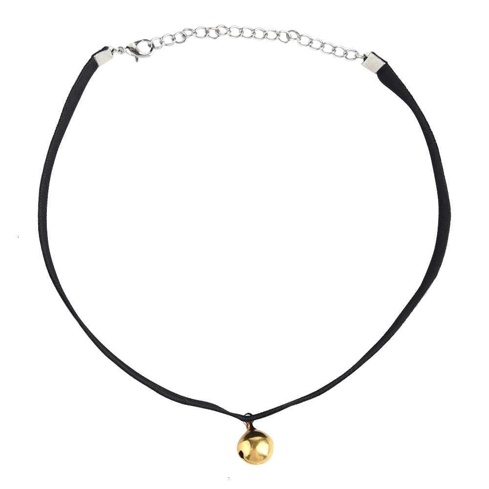 Moda mujer Sexy oro campana Collar gargantilla colgante Collar joyería gargantilla cadena Harajuku gótico Vintage regalo de Navidad