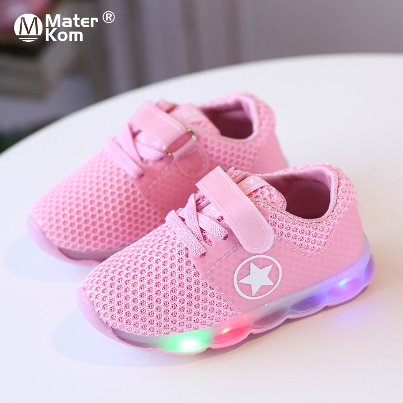 Size 21-30 Children's Lighted Shoes Lled Shoes Kids Glowing Sneakers Kids Sneakers For Boys Girls Luminous Sneakers With Light