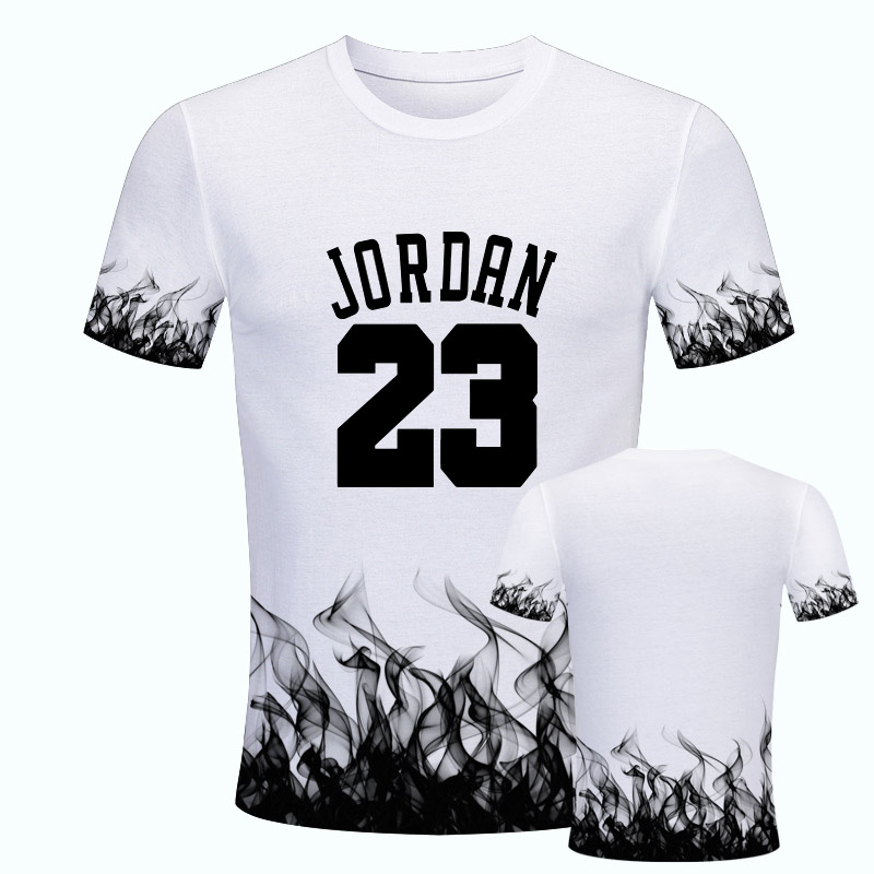2019 NEW Hot Sale White 23 T Shirt Man Fashion Camiseta Masculina 3D Print Short Sleeve Jordan O-Neck Casual Tshirt Streetwear