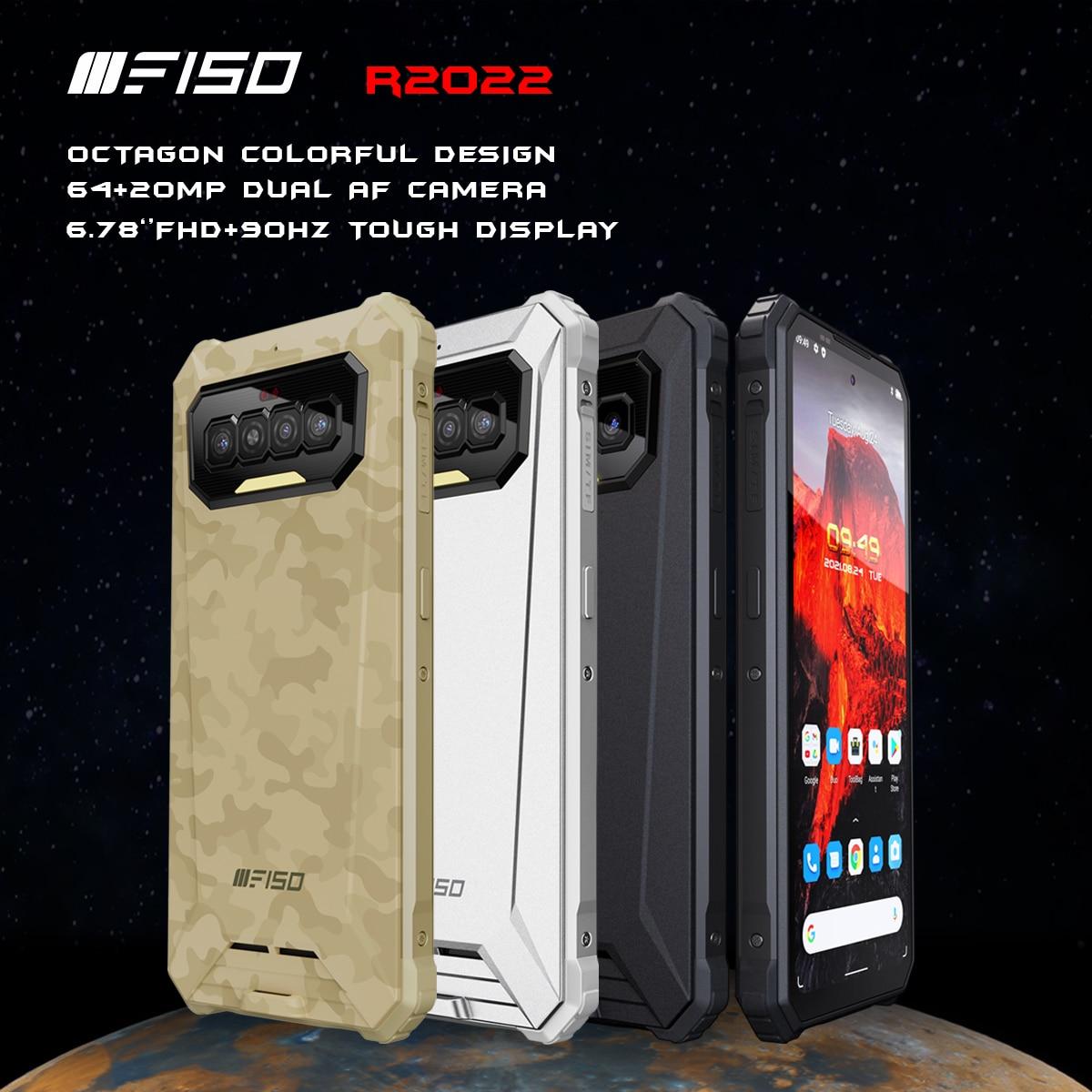 iiiF150 R2022 64MP+20MP AF Night Vision 6.78'' FHD 90Hz Smartphone IP68/69K Waterproof G95 8GB+128GB 8300mAh NFC Rugged Phone