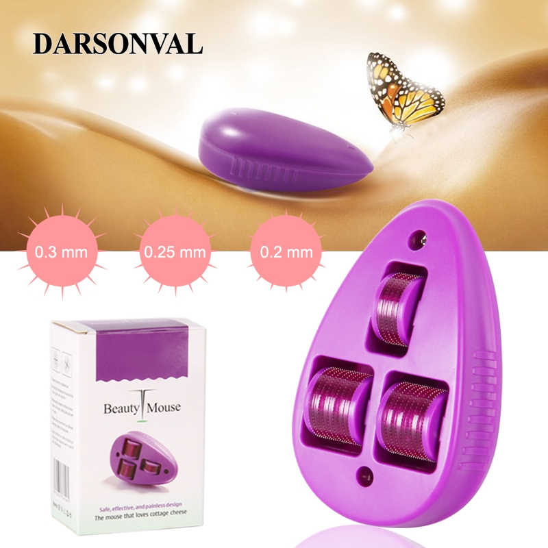 DARSONVAL Micro Needles Derma Roller Beauty Mouse Titanium Mezoroller Microneedle Machine For Skin Care And Body Treatment