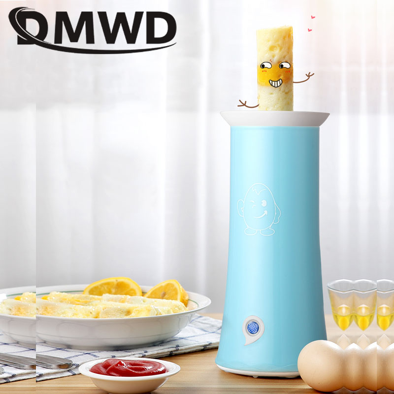 DMWD Automatic Egg Sausage Roll Maker Electric Mini Breakfast Egg Boiler Cooking Cup Burrito Hotdog Eggs Roller Omelette Master