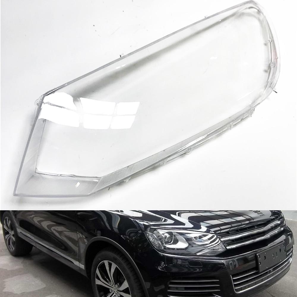For Volkswagen VW Touareg 2011 2012 2013 2014 Car Headlight Headlamp Clear Lens Auto Shell Cover