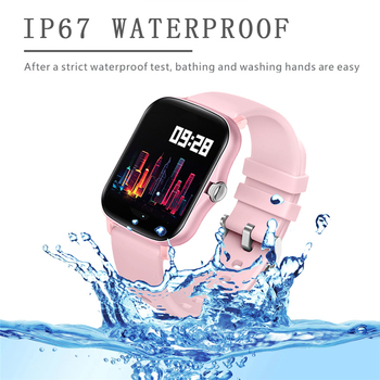 LIGE 2021 New Full touch Female Digital watch waterproof Sports suitable for Android IOS multifunction Electronic watch male+Box 4