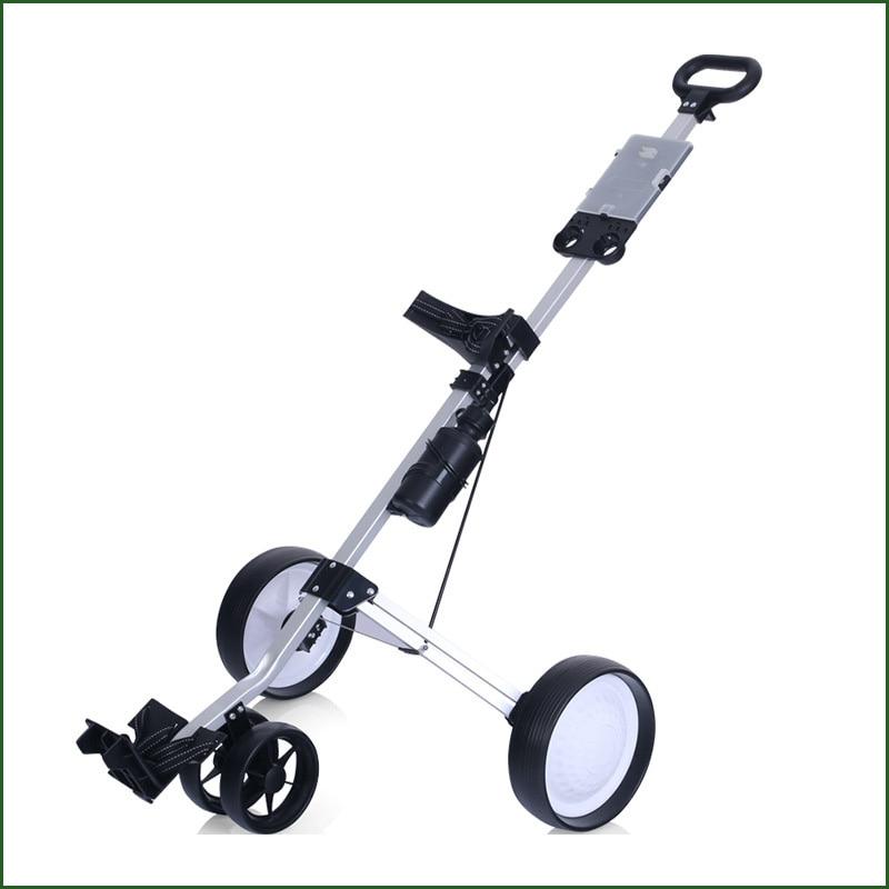2020 New PGM Golf Three-wheeled Golf Cart Light Folding Bag Trolley Trolley Supplies Easy Carry And Fold
