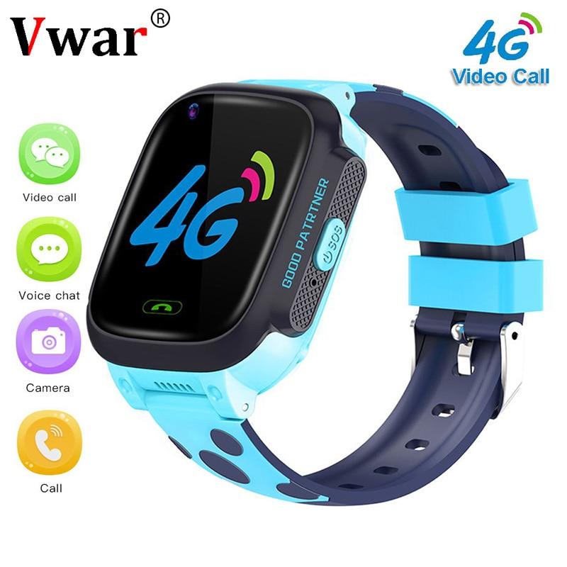 Vwar K9S Children 4G GPS WIFI Smart Watch HD Video Call Baby SOS Watch GPS Location Tracker Anti-Lost Kids Waterproof SmartWatch