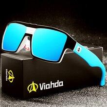 Viahda spolaryzowane okulary przeciwsłoneczne damskie męskie marka projekt rama okulary przeciwsłoneczne dla mężczyzn moda klasyczne kwadratowe okulary UV400