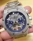 Luxus Marke Neue Automatische Mechanische Männer Uhr Tourbillon Sapphire Transparent Glas Skeleton Schwarz Blau Silber Begrenzte AAA + - 1