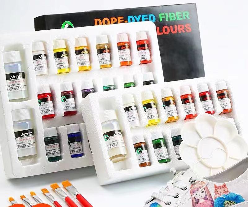 Professional Textile Paint Color Paint Acrylic Diy Hand-painted Graffiti Dye Non-toxic Waterproof 12 Color 18 Color Suit