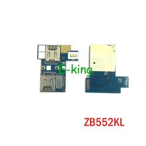 10 шт. лоток для чтения sim-карт для ASUS Zenfone Go ZB552KL Micro SD слот для карт памяти гибкий кабель запасные части